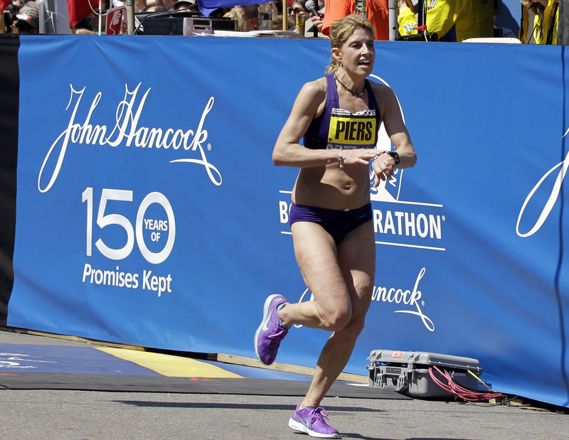 Sheri Piers of Falmouth wasn't just the U.S. women's winner at the Boston Marathon, but 10th overall.