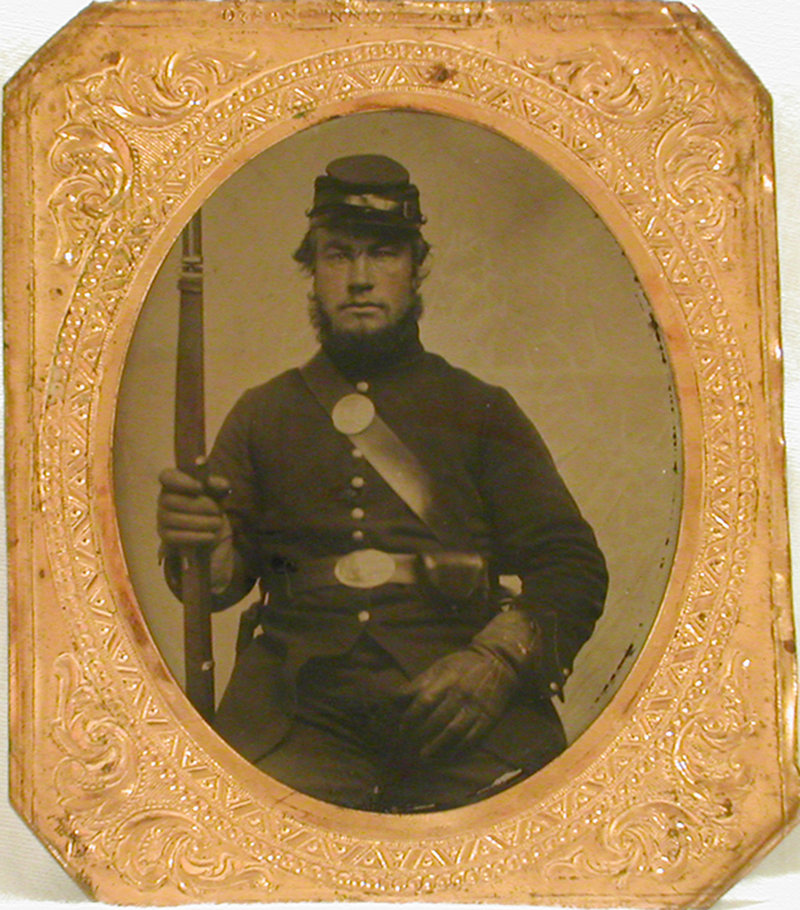 A tintype shows William Scott, a farm boy-turned-soldier from Groton, Vt., who was sentenced to death for falling asleep on guard duty outside Washington during the Civil War. He was pardoned, then died seven months later in battle.