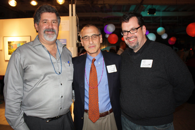 Judge Peter Darvin, one of the founders of the Immigrant Legal Advocacy Project, the organization's new executive director Ron Kreisman and attorney Ted Kelleher, another of ILAP's founders.