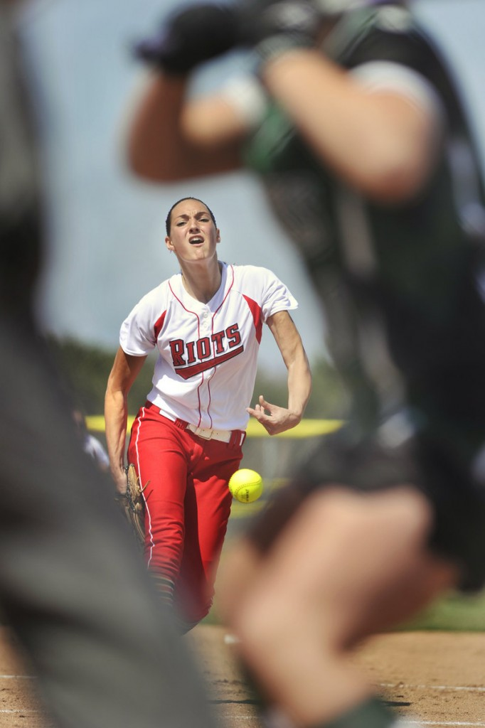 Erin Bogdanovich opened the South Portland softball season on a high note Saturday, pitching a two-hitter with 12 strikeouts in a 6-1 victory against Bonny Eagle. Bogdanovich also hit a home run.