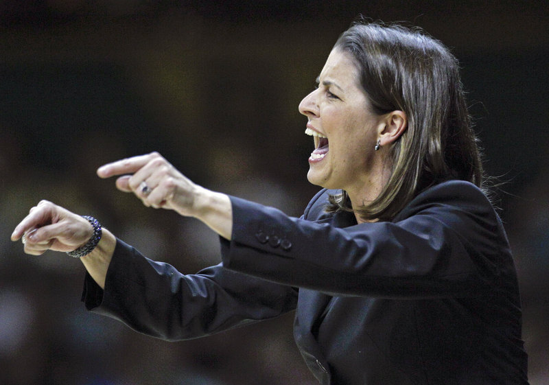 """Former UMaine basketball coach Joanne P. McCallie says her book is """"for anyone in leadership roles trying to sort through life's events."""""""