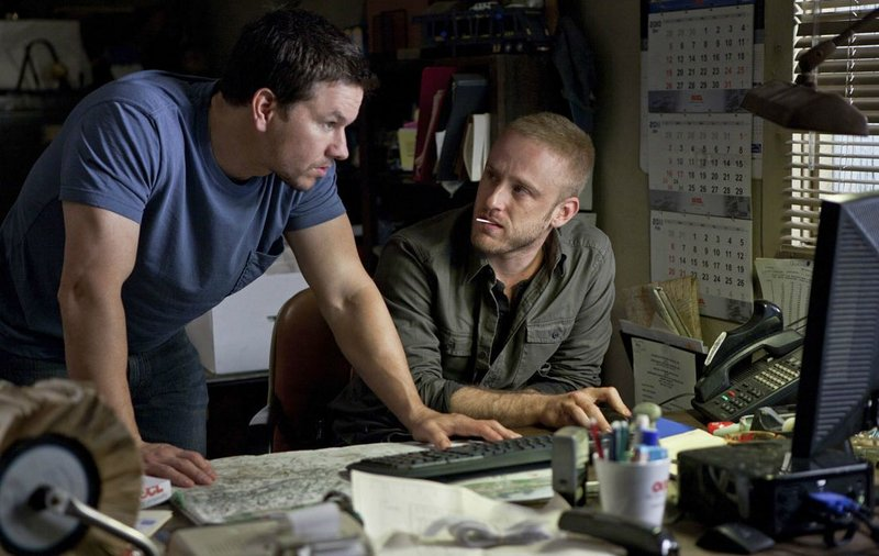 """Mark Wahlberg, left, and Ben Foster in """"Contraband."""""""