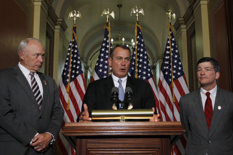 "House Speaker John Boehner of Ohio said Wednesday legislators can keep student loan interest rates low ""without a bunch of campaign-style theatrics."""