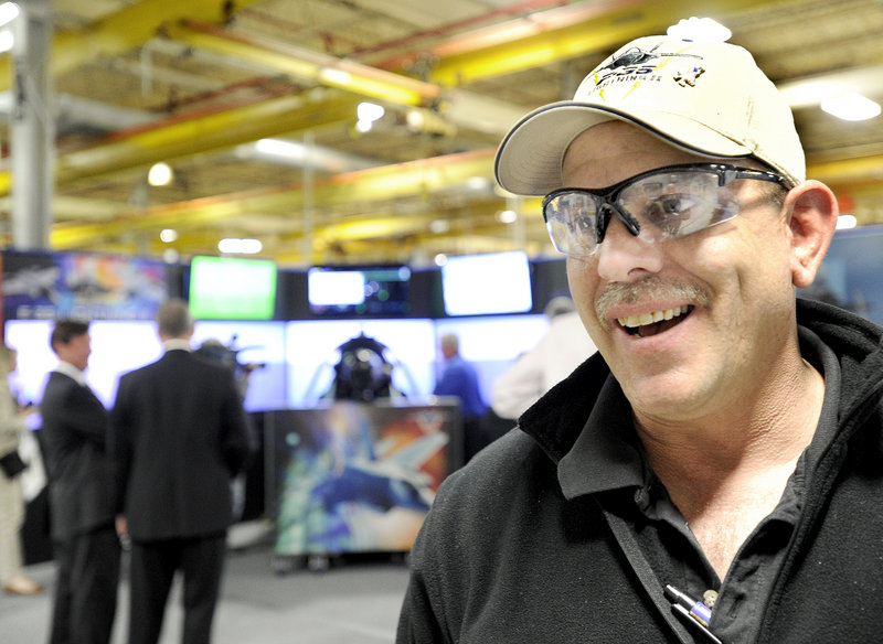 """Rick LaChance, electronics technician at Pratt & Whitney in North Berwick: """"This is an exciting job. ... We feel a sense of pride in the company and the products we produce."""""""