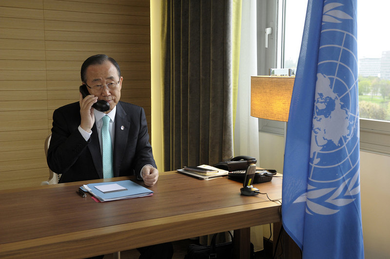 "On Friday, hours after a suicide bombing in Damascus killed 10 people, U.N. chief Ban Ki-moon said Syria's repression of civilians had reached an ""intolerable stage."""