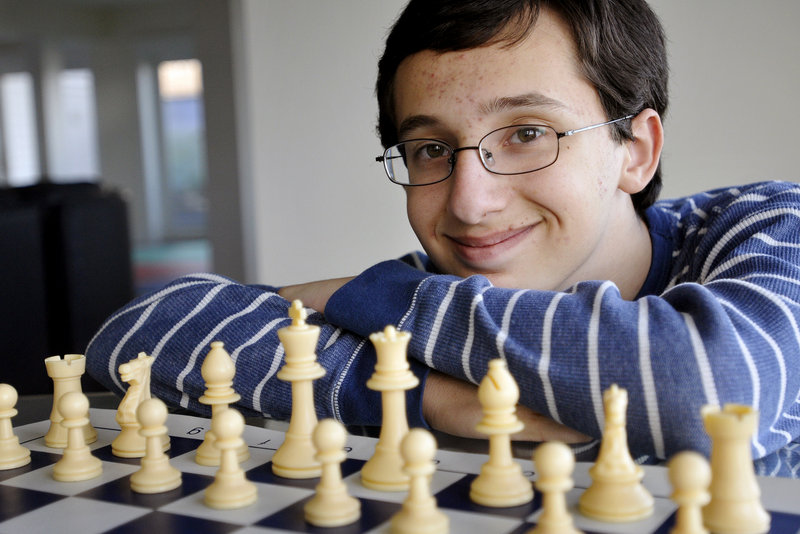 Matthew Fishbein, 14, won the Maine State Chess Championship plaque.