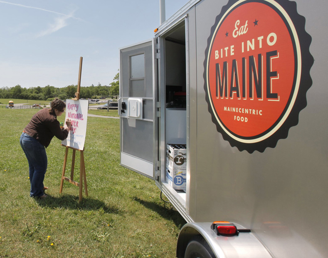 With Portland City Council's approval, food trucks, like this one pictured at Fort Williams in Cape Elizabeth, would be allowed to operate in Deering Oaks, on the Eastern Promenade, at Compass Park on the Maine State Pier and at seven busy locations downtown and on the waterfront.