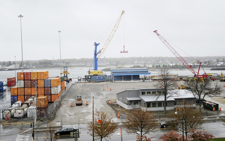 Shaw Brothers Construction of Gorham submitted a low bid of $8.6 million on s project to expand the International Marine Terminal in Portland and  connect it with existing rail lines.