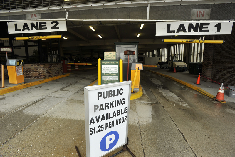 Portland's Spring Street Garage is one of two city-owned parking garages where fees could increase.
