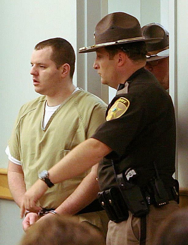 Gregory Rec/Staff Photographer: Anthony Papile enters Carroll County Superior Court in New Hampshire on Thursday, May 24, 2012, where he pled guilty to killing Krista Dittmeyer. He received 50 years to life sentence.