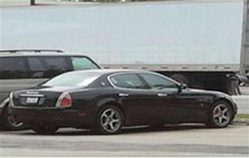 This undated photo provided May 15, 2012 by the Burbank Police Department shows a 2006 Maserati that was last known to be driven by Arnoldo Jimenez, 36, of Burbank, Ill., accused of first-degree murder in the slaying of 26-year-old Estrella Carrera shortly after they celebrated their wedding Friday, May 11, 2012. Carrera was found in her bathtub shortly after they celebrated their wedding with friends. Jimenez is the subject of a manhunt by the FBI and 32 law enforcement agencies. (AP Photo/Burbank Police Department)