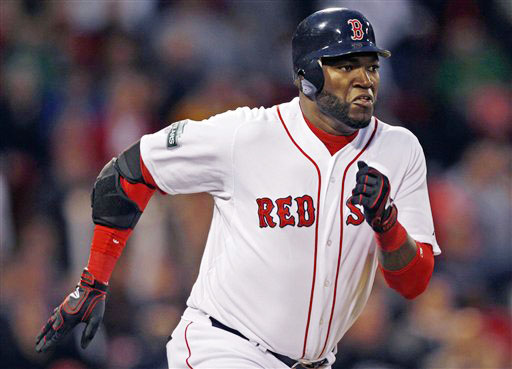 Boston Red Sox designated hitter David Ortiz.