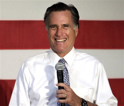 In this May 10, 2012 file photo, Republican presidential candidate, former Massachusetts Gov. Mitt Romney speaks in Omaha, Neb. Expect George W. Bush to stay far away from this year's presidential election. Romney's campaign doesn't foresee the 43rd president playing any substantive role in the race over the next six months and the GOP candidate's aides are carefully weighing how much the former president should be involved in this summer's GOP convention _ and for good reason. The Bush fatigue that was a drag on GOP nominee John McCain four years ago clearly still lingers, even among Republicans. (AP Photo/Jae C. Hong, File)
