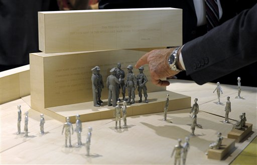 Architect Frank Gehry's model of the Eisenhower Memorial.