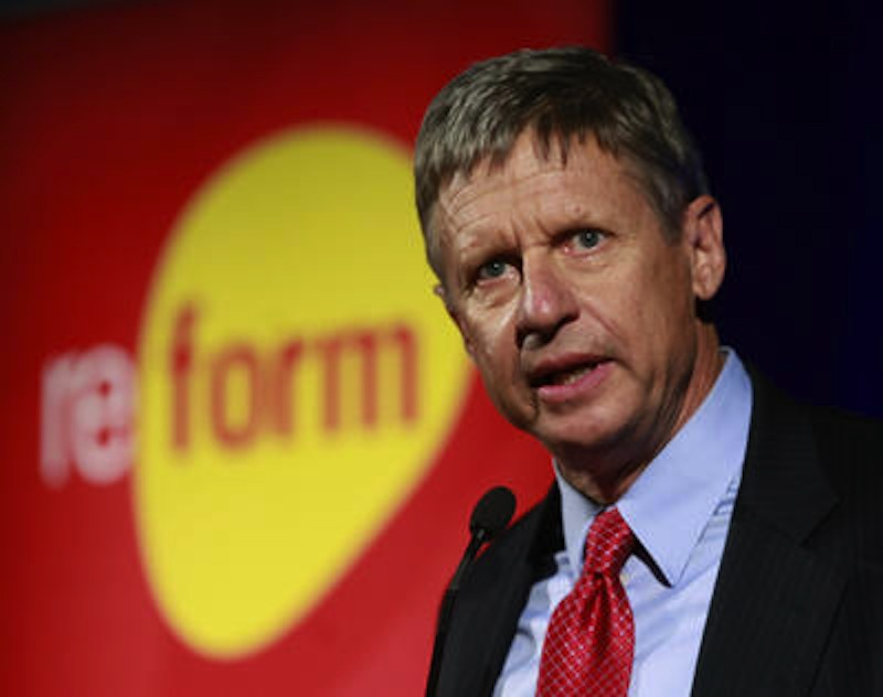 Former New Mexico Gov. Gary Johnson, who is now the Libertarian Party's official nominee for the Presidency of the United States. (AP Photo)