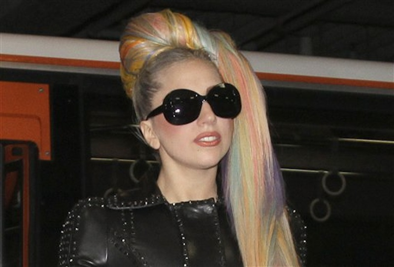 In this photo taken on Tuesday, May 8, 2012, Lady Gaga arrives at Narita International Airport in Narita, east of Tokyo. Lady Gaga has to cancel her sold-out show in Indonesia because Islamic hard-liners and conservative lawmakers objected. National police spokesman Boy Rafli Amar said the permit was denied for the June 3, 2012,