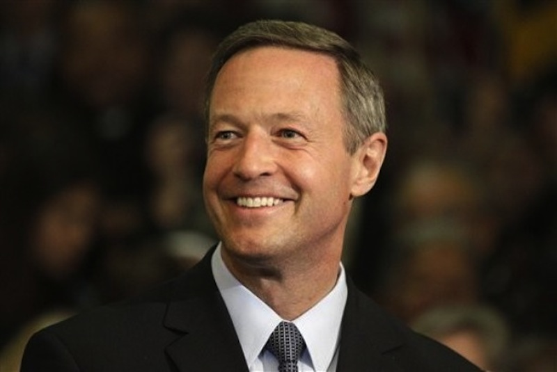 Maryland Gov. Martin O'Malley looks on before signing the Civil Marriage Protection Act in Annapolis, Md., Thursday, March 1, 2012. O'Malley will address the Maine Democratic State Convention next week. (AP Photo/Patrick Semansky)