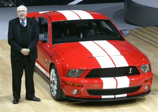 Carroll Shelby stands next to the 2006 Ford Shelby Cobra GT500 at the New York Auto Show in this 2005 photo,