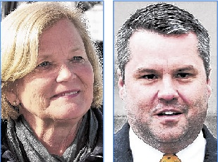 1st District candidates Rep. Chellie Pingree and Jon Courtney