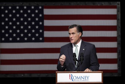 Republican presidential candidate Mitt Romney speaks in Lansing, Mich., in this May 8, 2012, photo.