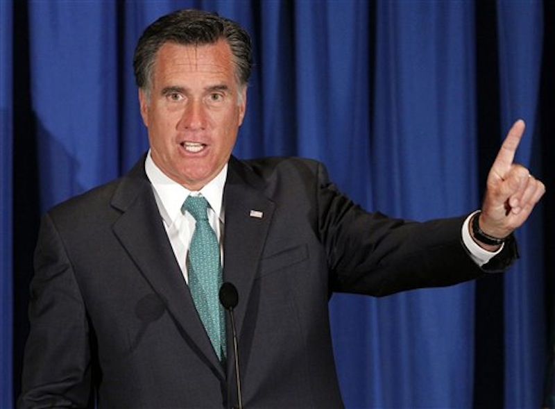 In this April 10, 2012 file photo, Republican presidential candidate Mitt Romney speaks in Mendenhall, Pa. New Mexico Gov. Susana Martinez, a possible running mate for Romney, criticized Romney's stance on immigration on Tuesday. (AP Photo/Alex Brandon, File)