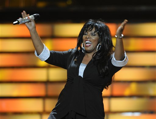 FILE - In this May 21, 2008 file photo, Donna Summer performs during the finale of