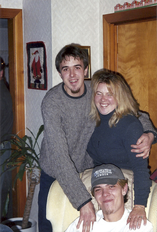 Jonathan Seaman, seated, with his brother and sister Michael and Elizabeth Seaman.