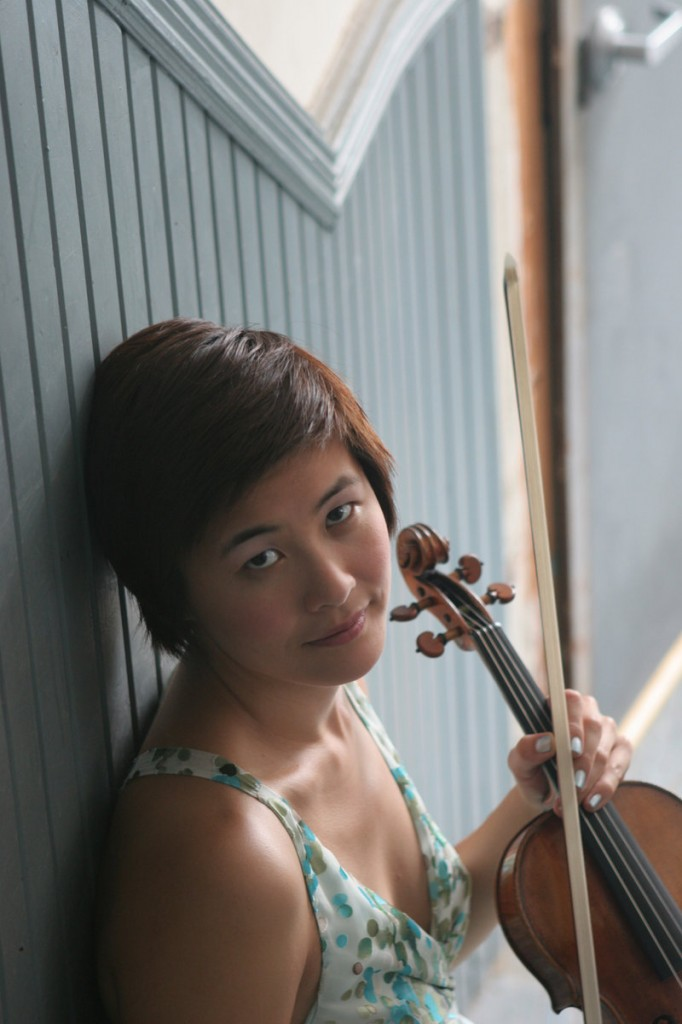 "Violinist Jennifer Koh performs ""Bach and Beyond"" tonight at Hannaford Hall on the University of Southern Maine campus in Portland."