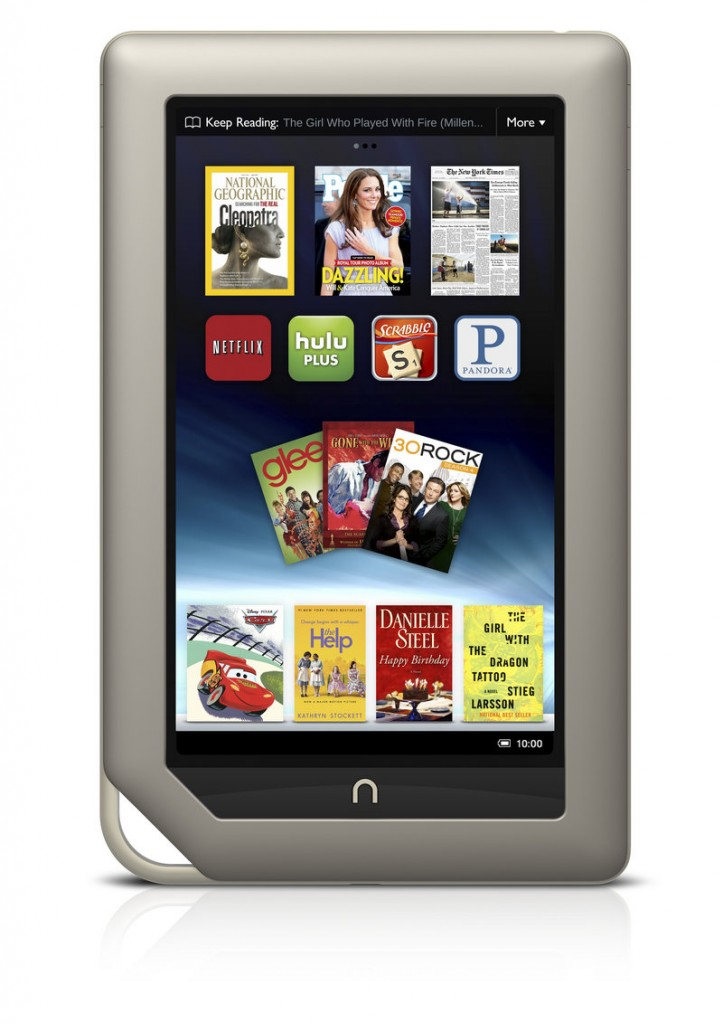 Barnes & Noble Inc. and Microsoft Corp. are teaming up to create a new Barnes & Noble subsidiary that will house the digital and college businesses of the bookseller and include a Nook application for Windows 8. The Nook tablet is shown here.
