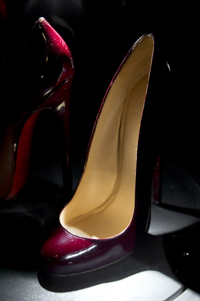 Painfully high heels are a specialty of designer Christian Louboutin.