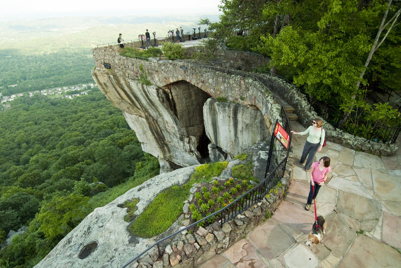 Lover's Leap is one of the well-known scenic spots along the Enchanted Trail at Rock City in Lookout Mountain, Ga. Rock City is celebrating its 80th year.