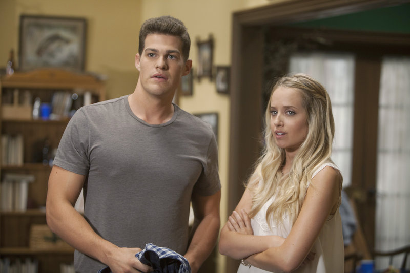 Scarborough High School alum Greg Finley and Megan Park in