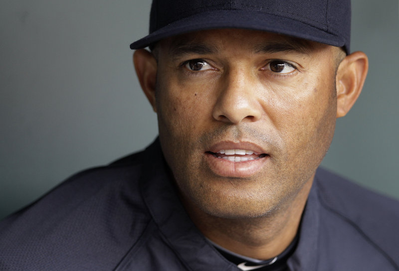 Mariano Rivera tore his ACL while shagging fly balls in center field before a game with the Royals on Thursday.