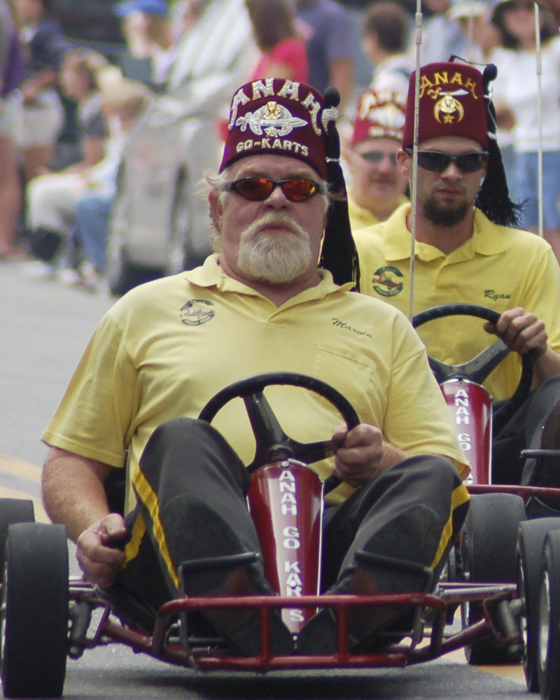 Marvin Tarbox, a member of the Anah Temple Shrine in Bangor, shown driving a go-cart in a parade, was killed last fall when his cart overturned while he was performing a ramp stunt in Newcastle during the Damariscotta Pumpkinfest. His memory is being honored May 20, when the Anah Shrine hosts the first Marvin Tarbox Memorial Drive.