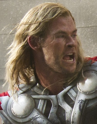 "Chris Hemsworth as Thor in ""The Avengers"""