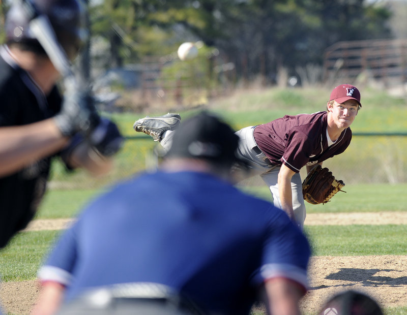 Sawyer Williams frustrated Greely's powerful offense but was hurt by errors that led to three unearned runs in Freeport's 4-2 loss Monday.