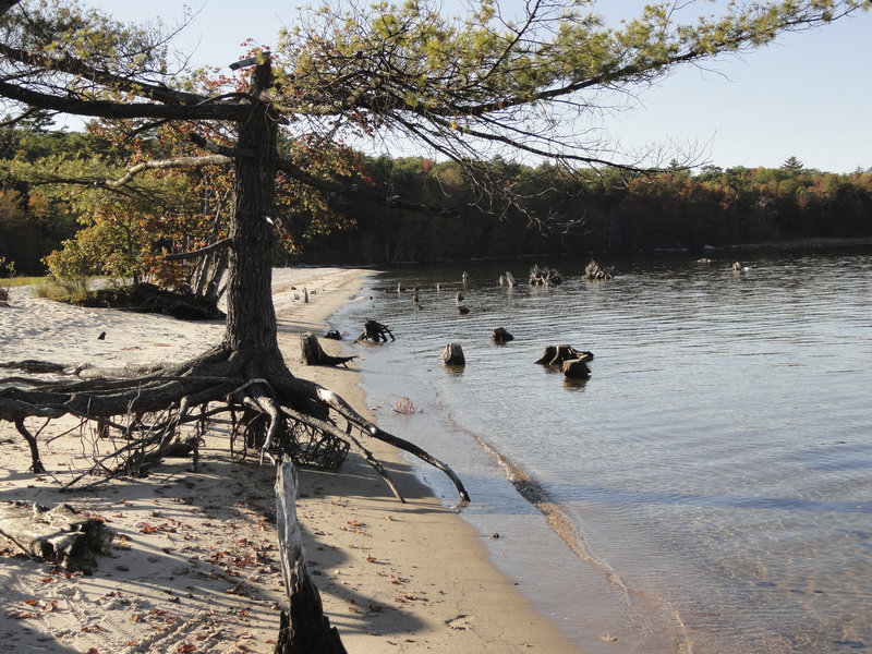 An agreement between Standish town councilors and the Portland Water District marks a step toward creating a way for residents to get to Sandbar Beach, which is used by the Sebago Boating Club and is now only accessible by water.