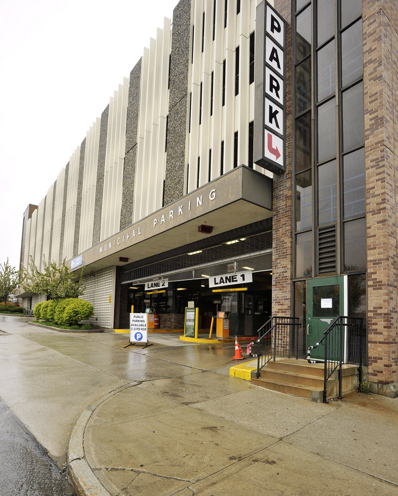 A proposal that is part of the municipal budget before the City Council would raise hourly rates at two city-owned parking garages – at Spring Street, shown here, and Elm Street – so that the fees were closer to market rates.
