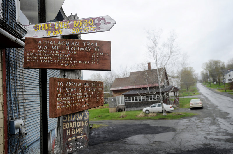 Where to go and how to get there – that's the sign that Monson has for visitors who reach the town during their Appalachian Trail journey.