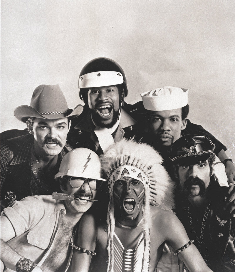 In this 1979 photo, the Village People are: on bottom, right to left, Glenn M. Hughes, Felipe Rose and David Hodo; on top, right to left, Alex Briley, Victor Willis and Randy Jones.
