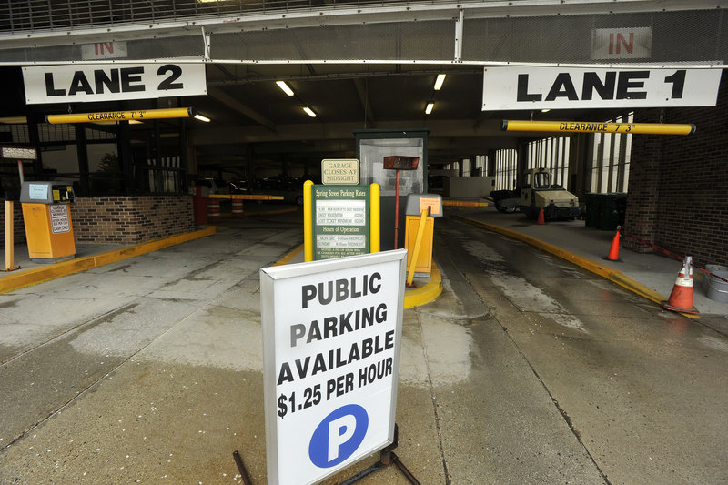 Portland's Spring Street Garage is one of two city-owned parking garages facing proposed increases in their hourly and daily rates.