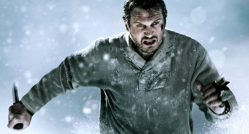 "Liam Neeson displays his action-hero chops in ""The Grey."""
