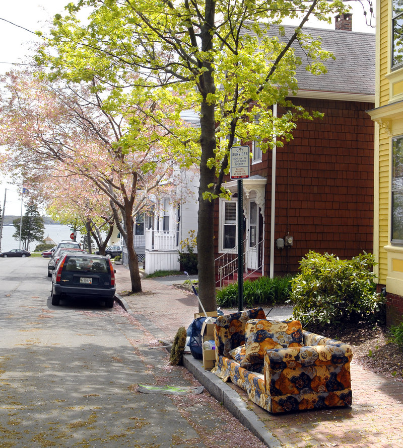 Having the city get rid of your couch will cost $40.
