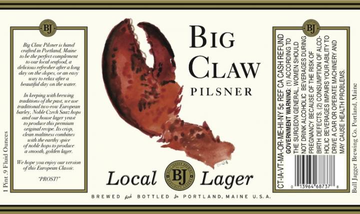 Big Claw Pilsner from Bull Jagger Brewing Co. just made it to store shelves last week. Draft versions of Big Claw will show up occasionally at some specialty beer bars, but not for a while.