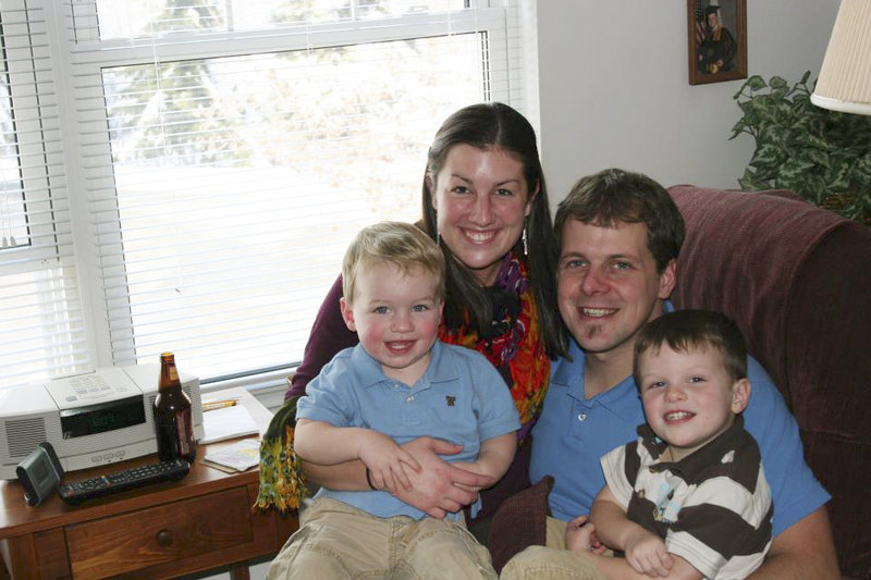 Moses and Amber Gerry with their sons, Mason and Weston.