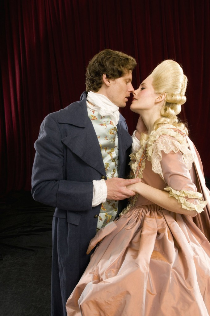 """Tony Roach and Ellen Adair in """"Marie Antoinette: The Color of Flesh,"""" which ends its run at Portland Stage Company this weekend."""