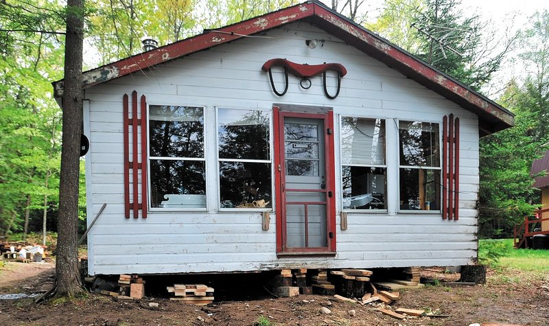 This camp in Albion fell on two men who were working on it, killing one and seriously injuring the other.