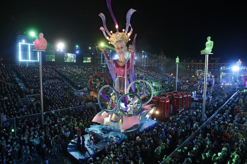 The parade during the 128th edition of the Nice Carnival earlier this year.