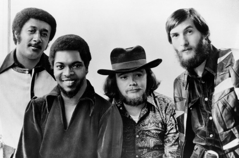 """Booker T. and the MGs, from left: Al Jackson Jr., Booker T. Jones, Donald """"Duck"""" Dunn and Steve Cropper."""
