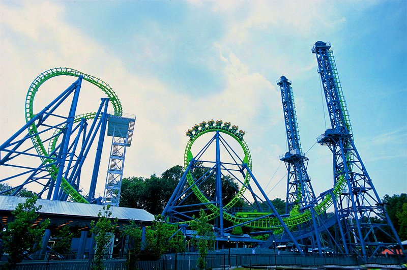Although Six Flags New England in Agawam, Mass., is about a three-hour drive from Portland, its total of 11 major roller coasters makes it worth the trip for serious coaster fans. A new 200-foot coaster called Goliath – sporting speeds of up to 65 miles per hour – debuts there this summer.